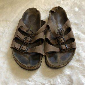 Birkenstock Florida brown leather sandals size 39